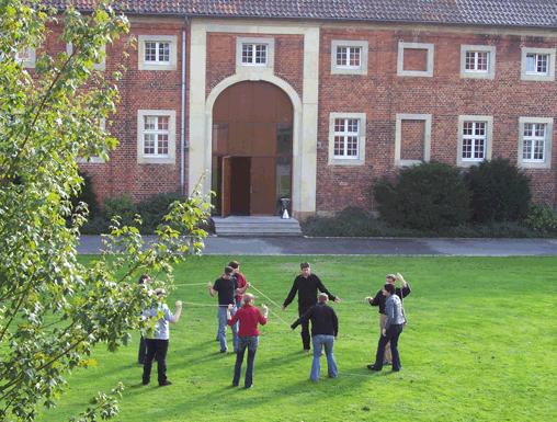 Schüler bei der Outdoorfortbildung
