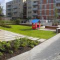 Panoramablick auf Garten von der Freianlagen Saarlandstraße 22-24