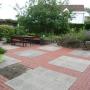 Überblick vom therapeutischen Erlebnisgarten, Haus Ingrid