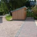Holzschuppen Hinterhof