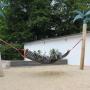 Schnappschuss vom Beachbereich mit Hängematte
