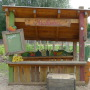 Ein Stand auf dem Spielplatz Apfelhof (Appelhoff)